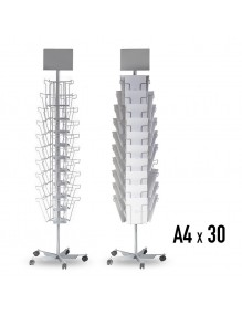 Turning metal display stand with 30 separators (DIN A4V)