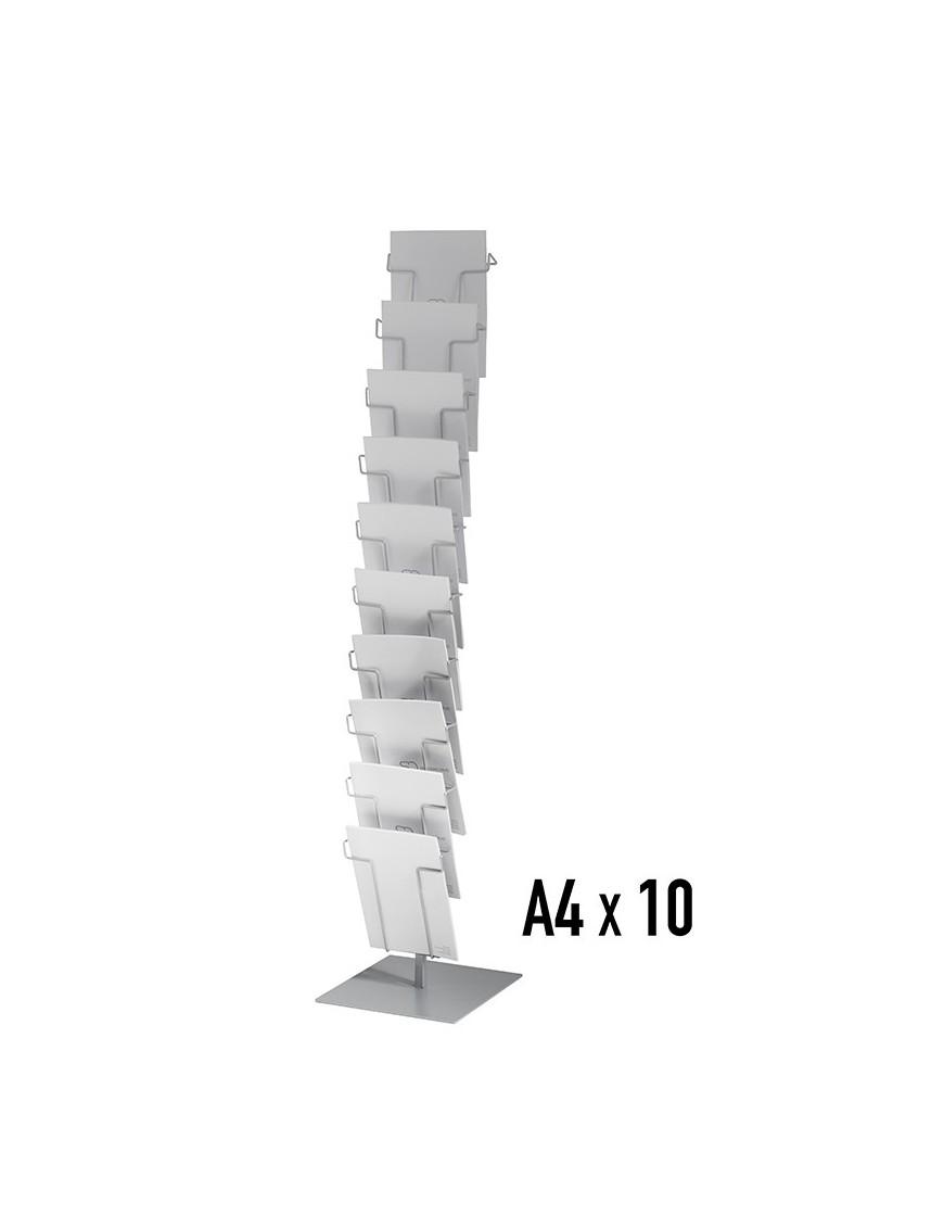 Metal display stand with 10 separators