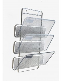 Display stand 3 departaments silver