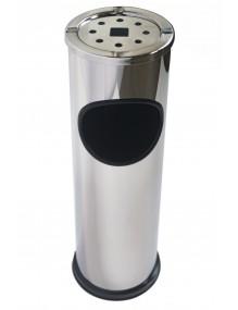 Metal wastepaper basket-ashtray