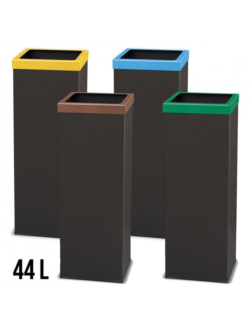 Papelera de reciclaje metálica 44 Litros 71 x 25 cm.