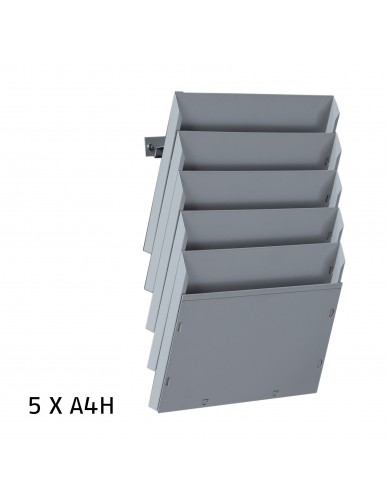 Expositor de pared A4H 5 Dptos