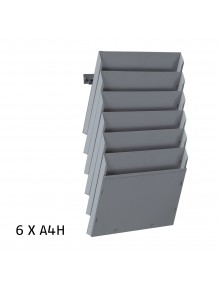 Expositor de pared A4H 6 Dptos