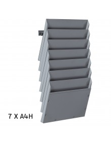 Expositor de pared A4H 7 Dptos
