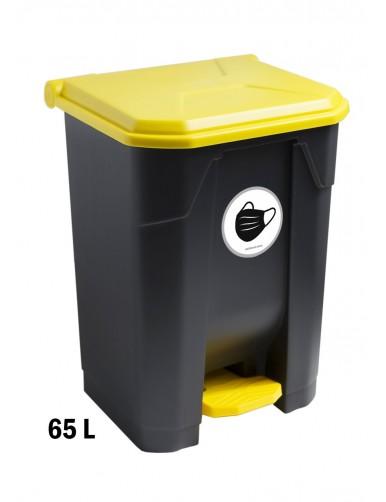 Contenedor con pedal 65 Litros con Adhesivo