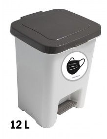 Garbage container with pedal 12 Liters
