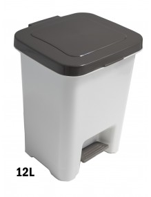 Cubo de basura con pedal 12 Litros adhesivo