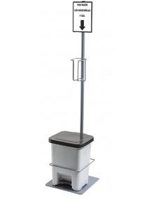 Expositor Dispensador de gel desinfectante anti virus COVID-19 (D5)