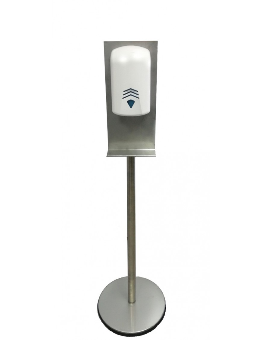 Soporte de pie para dispensador de gel desinfectante anti virus COVID-19