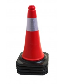 Reflective Cones with rubber Base