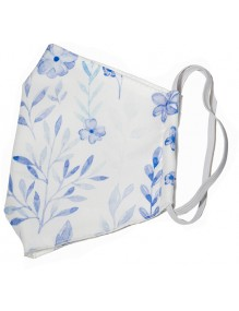 Mascarillas higiénicas lavables reutilizables (flor azul)