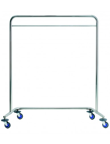 Moveable metal coat rack