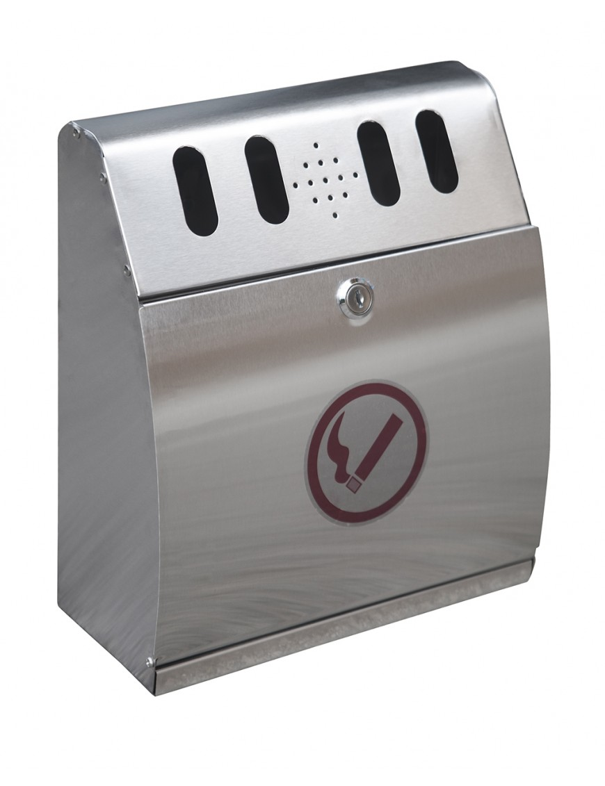 Wall ashtray. Stainless steel AISI-304