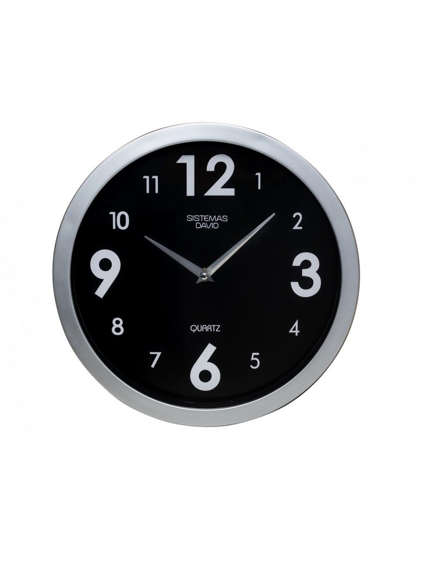 Reloj de pared para oficina color negro