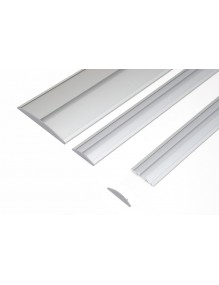 Signaling system composed of curved aluminum profile with plastic sides