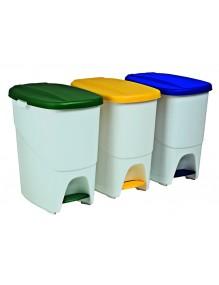 Cubo de basura con separador interior. Capacidad 40 litros