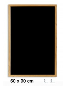 Black board with wooden frame (90 x 60 cm)