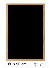 Pizarra negra con marco de madera (90 x 60 cm)