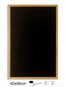 Pizarra negra con marco de madera (90 x 90 cm)