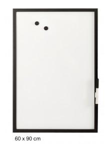 Pizarra blanca con marco color negro (60 x 90 cm)