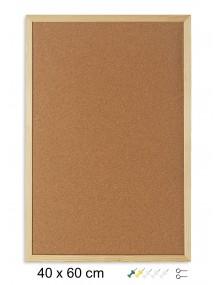 Tablero de corcho con marco de madera (60 x 40 cm)