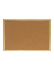 Tablero de corcho con marco de madera (90 x 60 cm)
