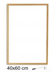 Pizarra Blanca con marco de madera (40 x 60 cm)