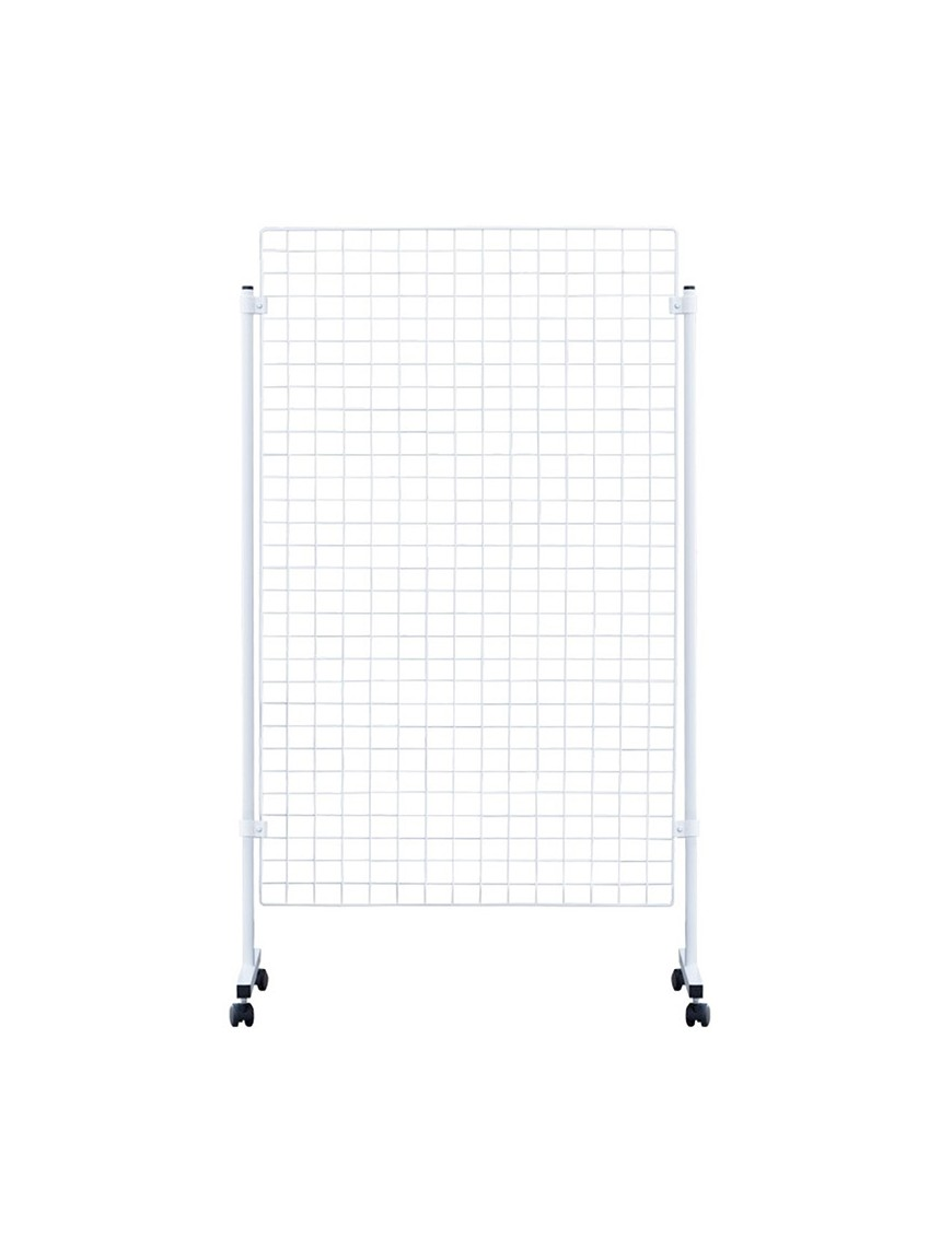 Display stand with Panels made of wire net (White)