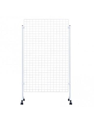 Expositor con Panel de malla en color blanco