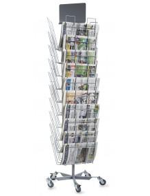 Expositor de periódicos con 30 departamentos