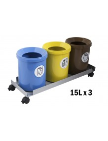 Set 3 bins of 15L.