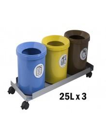 Set 3 bins of 25L.