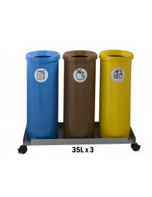 Set 3 bins of 35L.