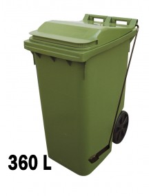 Industrial container with pedal 360L.