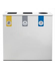 Papelera de reciclaje para 3 residuos
