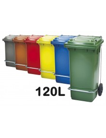 Industrial container with pedal. Capacity 120 Liters