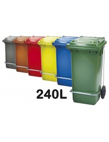 Industrial container with pedal 240L.