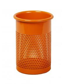Portalápices perforado metálico color naranja