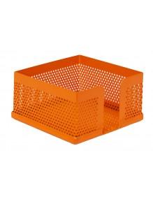 Conjunto sobremesa 8 piezas chapa perforada en color naranja