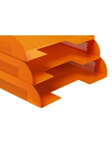 Stackable document tray Orange