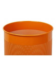 Wastepaper basket 15 Liters. Perforated metal wastebasket (orange)