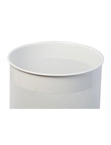 Wastepaper basket 15 Liters. Perforated metal wastebasket (white)
