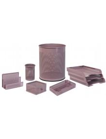 Conjunto sobremesa 8 piezas chapa perforada color violeta