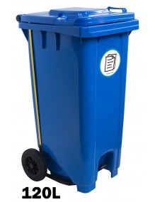 Industrial container with pedal 120 Liters
