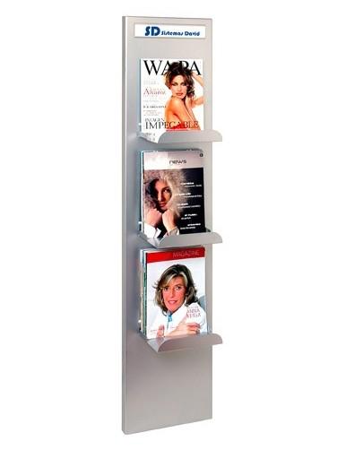 Expositor de pared para folletos y revistas