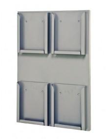 Expositor Portafolletos de pared Din A4V  (215402E)