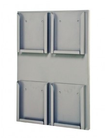 WALL-MOUNTED METAL LEAFLET HOLDER DISPLAY STAND  (215402E)