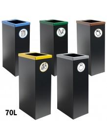 Papelera de reciclaje metálica 70 Litros