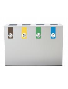 Recyclingbehälter für 4 Arten von Abfällen
