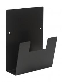 Expositor para folletos de pared metálico A4V (negro)